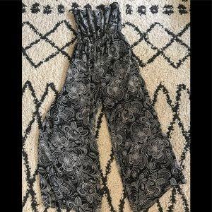 Black patterned jumpsuit